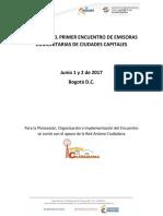 memorias del II encuentro de radialistas comunitarios - Colombia
