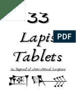 33 Lapis Tablets