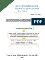 Participación Comunitaria en La Salud