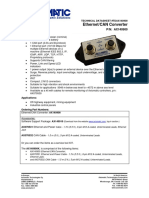 TECHNICAL DATASHEET #TDAX140900 Ethernet/CAN Converter
