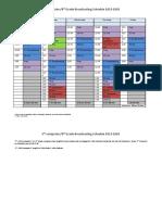 2019-2020 broadcasting schedule