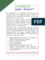 Culebrilla - Herpes Zoster - ENFERMEDAD
