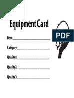 Equipment Card Template