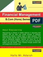 B.com Hons - Sem v - Financial Management