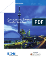 Contactor and breaker transfer switch