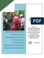 curso internacional de preservacion de recursos forestales