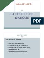 140921 - Feuille de Marque