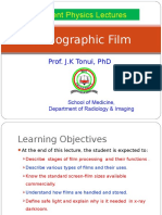 Lecture 17b Radiographic Films