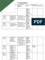 Curriculum Pacing Guide Math K Final