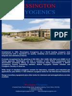 Wessington Cryogenics Company Profile and Products