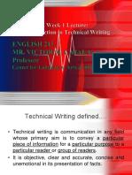 1ENG213 Tech Writing