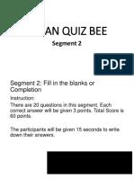 Asean Quiz Bee Identification/Completion