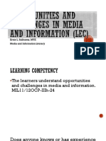 Opportunities and Challenges in Media and Information (Lec)