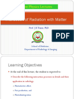 Lecture 6b Interaction of Radiation With Matter