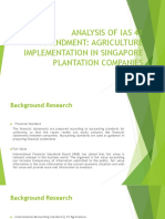 Analysis of IAS 41 Amendment Agriculture Implementation in Singapore Plantation Companies