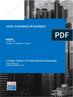 LSIB Level 3 Business Specification