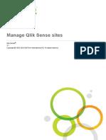 Manage Qlik Sense Sites