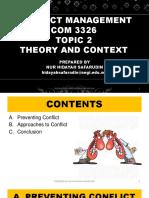 Conflict Management - Topic 2