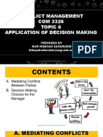 Conflict Management - Topic 6
