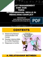 Conflict Management - Topic 3
