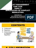 Conflict Management - Topic 5