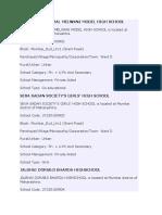 List of Schools Ward D