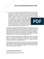 Reseña Histórica de Los Ferrocarriles en El Perú