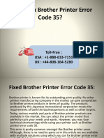 How to Fix Brother Printer Error Code 35