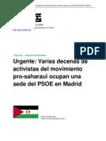 Encierro en la sede del PSOE