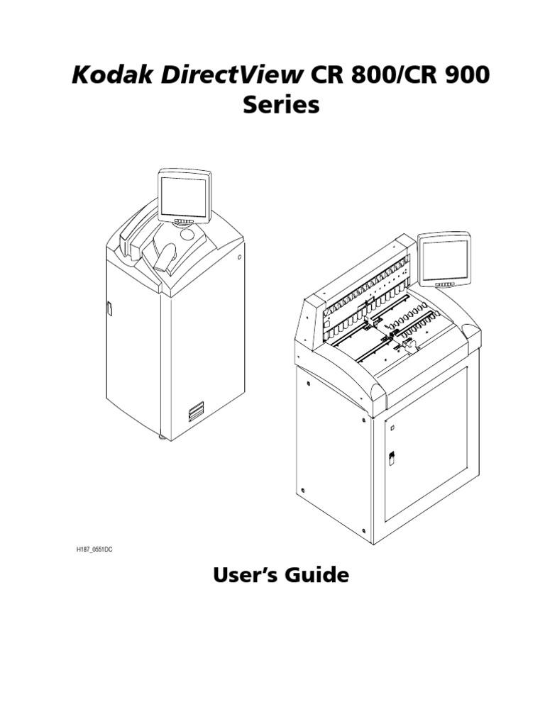Kodak Directview Cr 800/Cr 900: Series