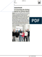 Con Learning by doing i nostri studenti in prima linea - Il Corriere Adriatico del 19 agosto 2019