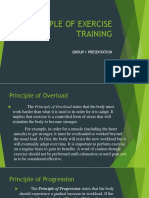 Principle of Exercise Training