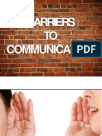 Barrierstocommunication