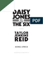 Daisy Jones & the Six - Book of Song Lyrics