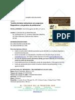 DATOS CURSO Analisis Datos Moleculares Agosto 2019