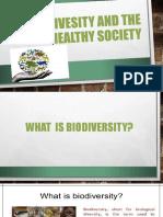Biodivesity and the Healthy Society - Copy