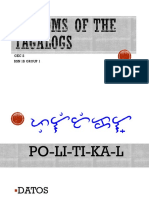 Customs of the Tagalogs Political
