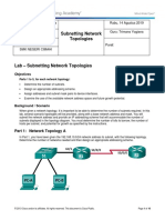 9.1.4.9 Lab - Subnetting Network Topologiesf