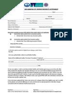 Ppn Network - Declaration Form