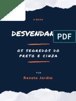 E-book Renata Jardim Preto e Cinza