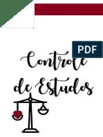 13. Planner - Controle de Estudos - @Cartaaosconcurseiros - Direito
