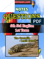 6th Std English 1st Term Notes Questions