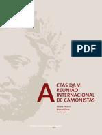 Pereira, Ferro - 2012 - Actas Da VI Reunião Internacional de Camonistas
