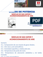 Tema IV. Mezclas de Gas-Vapor y Acondicionamiento de Aire