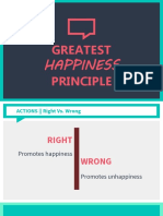 ETHICS Greatest Happiness Principle