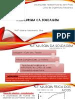 Soldagem - Metalurgia Da Solda