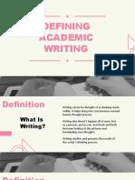 Defining Academic Writing