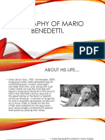 Biography of Mario Benedetti