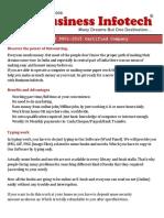 Business Infotech Work Details.....