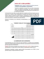 estudio especifico de la tabla periódica